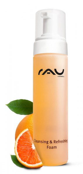 RAU Cleansing & Refreshing Foam 200 ml - Cleansing/Shower Foam with the Scent of Oranges