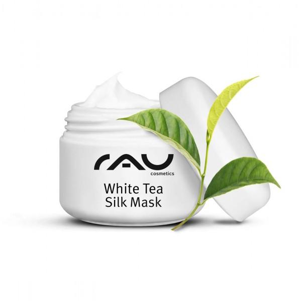RAU White Tea Silk Mask 5 ml - Gesichtsmaske mit Seidenproteinen & Weißem Tee