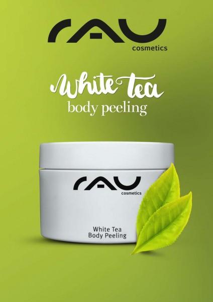 RAU Plakat - RAU White Tea Body Peeling grün A2