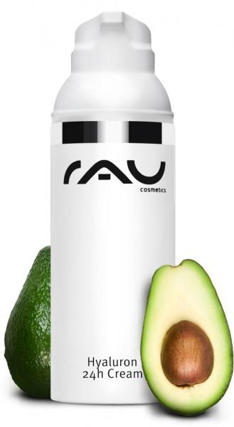 RAU Hyaluron 24h Cream 50 ml - Hyaluroncreme mit Sheabutter & Avocadoöl