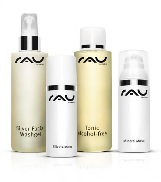 RAU Cosmetics Pflege-Set unreine Haut L: Silver Produkte & Reinigung
