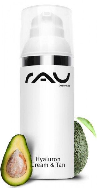 RAU Hyaluron Cream & Tan 50 ml - Selbstbräuner mit UV-Schutz, Hyaluronsäure