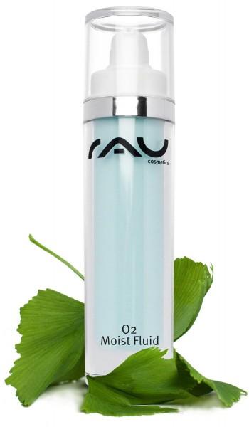 RAU O2 Moist Fluid 50 ml mit Hyaluronsäure & Ginkgo-Extrakt