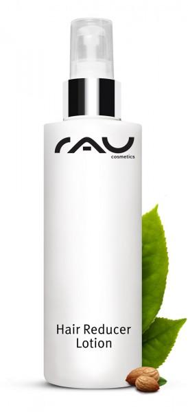 RAU Hair Reducer Lotion 200 ml - verzögert das Nachwachsen unerwünschter Körperhaare - mit Aloe Vera, Mandelöl, Squalan, Lecithin, Xanthan, Urea & Weißer Tee
