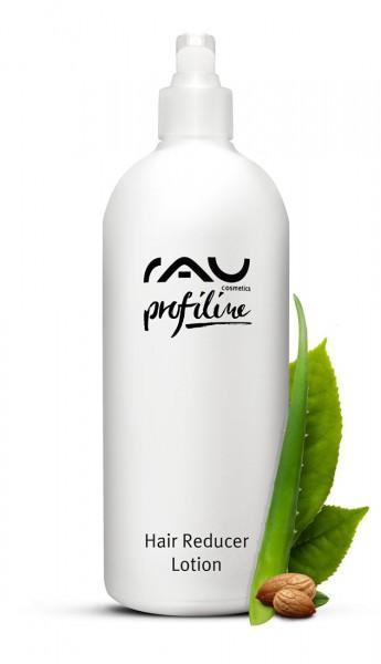 RAU Hair Reducer Lotion 500 ml PROFILINE - Kabinenware - verzögert das Wachsen unerwünschter Haare mit Aloe Vera, Mandelöl, Squalan, Lecithin, Xanthan, Urea & Weißer Tee  -