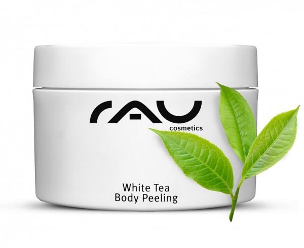 RAU White Tea Body Peeling 250 ml - mechanisches Körperpeeling mit weißem Tee und Mandelöl