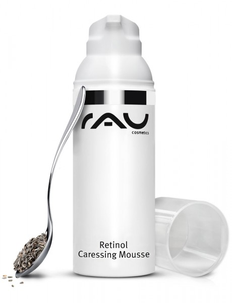 RAU Retinol Caressing Mousse 50 ml - Tagescreme mit wertvollen Pflanzenölen, Retinol und Tripeptide-