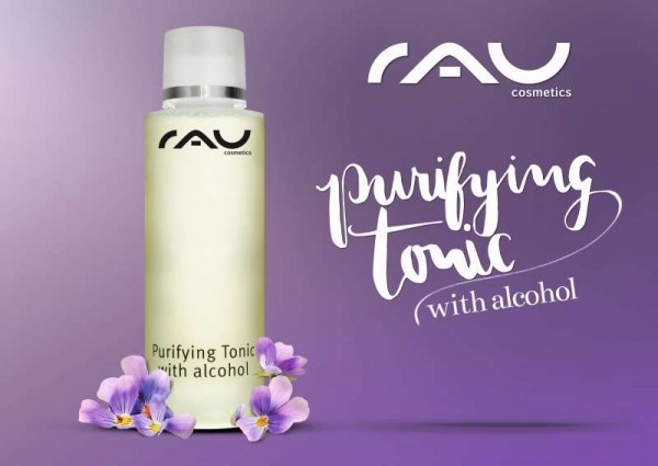 RAU Plakat - Purifying Tonic with alcohol lila A2