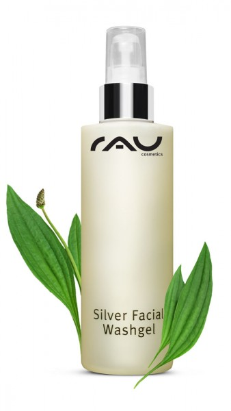 RAU Silver Facial Washgel 200 ml - Antimicrobiotic, moisturizing & soft facial washgel