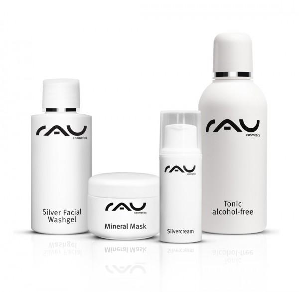 RAU Cosmetics Pflege-Set unreine Haut S: Silver Produkte & Reinigung